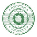 Recycle rubber stamp Stock Images