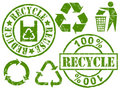 Recycle rubber stamps Royalty Free Stock Photography
