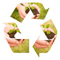 Recycle soil Royalty Free Stock Image