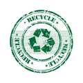 Recycle stamp Royalty Free Stock Photography