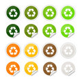 Recycle stickers , icons Royalty Free Stock Photo