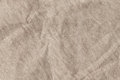 Light Brown Striped Recycled Manila Kraft Wrapping Paper Coarse Grain Crumpled Grunge Texture Royalty Free Stock Photo