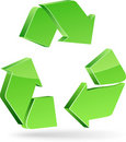 Recycle symbol. Royalty Free Stock Photo