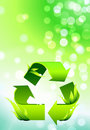 Recycle Symbol on Abstract Lens Flare Background Royalty Free Stock Photography