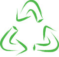 Recycle symbol abstract sketch of green Stock Images