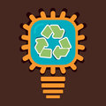 Recycle symbol in bulb stock Stock Photography