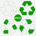 Recycle symbol of conservation green icon set Royalty Free Stock Photo