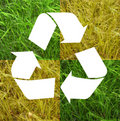 Recycle symbol grass Stock Photography