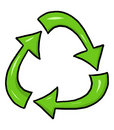 Recycle symbol illustration Stock Images