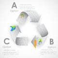 Recycle symbol made of newspaper illustration Royalty Free Stock Images