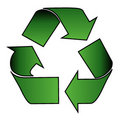 Recycle symbol over white Royalty Free Stock Image