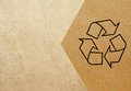 Recycle symbol printed on cardboard Stock Photo