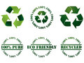 Recycle symbol and stamps Stock Photo