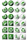 Recycle symbol stickers Royalty Free Stock Photo