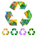 Recycle symbol usable for different design Royalty Free Stock Photography
