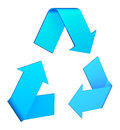 Recycle symbol on white background Stock Photography