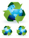 Recycle symbol world map Stock Photography