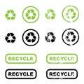 Recycle symbols Royalty Free Stock Photo