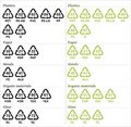 Recycle symbols with codes Royalty Free Stock Photo