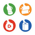Recycle symbols different items Royalty Free Stock Image
