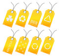 Recycle tags Royalty Free Stock Photo