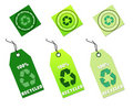 Recycle tags for environmental design Stock Image