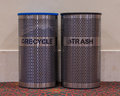 Recycle and Trash Bins Royalty Free Stock Photo