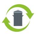 Recycle trash logo