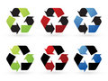 Recycle vector icons Royalty Free Stock Images