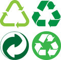 Recycle vector illustration of logo Stock Image