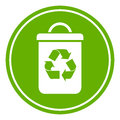 Recycle waste bin vector icon Royalty Free Stock Photography