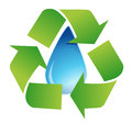 Recycle water symbol Royalty Free Stock Photo