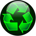Recycle Web Button Stock Images