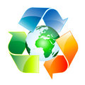 Recycle world Stock Image