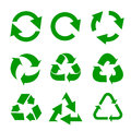 Recycled eco vector icon set. Vector illustration Royalty Free Stock Photo