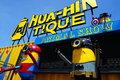 Recycled metal steel Robots theme park at Hua Hin Tique animal show : minion in spiderman and batman uniform suit