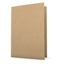 Recycled paper folder clipping path included for easy selection Stock Photo