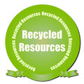 Recycled Resources Seal Royalty Free Stock Photography