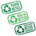 Recycled rubber stamp illustrations Royalty Free Stock Photo