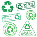 Recycled Stamps Royalty Free Stock Photo