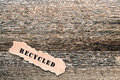 Recycled Title on Old Barnwood Lumber Background Royalty Free Stock Photo