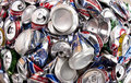 Recycling - Aluminum Drinks Cans Royalty Free Stock Photo