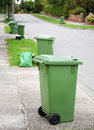 Recycling bins Royalty Free Stock Photo