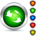 Recycling button. Royalty Free Stock Images