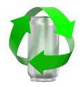 Recycling can image with clipping path Stock Photo