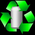 Recycling cans aluminium background compress Royalty Free Stock Photography