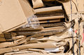 Recycling cardboard Royalty Free Stock Photography