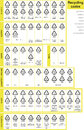 Recycling codes all code can be found here along with pictograms each are separated and each specific use all different code Stock Photography
