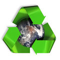 Recycling the earth Royalty Free Stock Photo