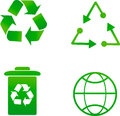 Recycling ecology background reuse Royalty Free Stock Photo